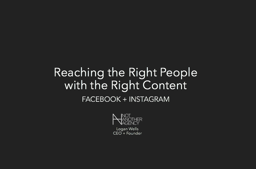 Quote: Reach the right people with the right content